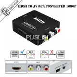 HDMI to AV Converter RCA Adapter PAL/NTSC with Audio Camcorder PC Laptop
