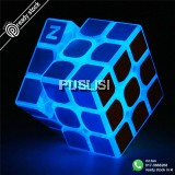 Z-cube Luminous Blue Cube Linen Finish Sticker Model Rubik Cube Smart Puzzle Toys
