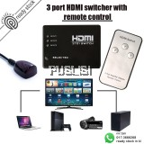 HDMI Switcher Splitter Hub Remote Control 3IN1/5IN1 OUT with remote control