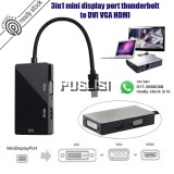 3in1 Mini Displayport (Thunderbolt Port Compatible) to HDMI DVI VGA Cable Adapter Converter
