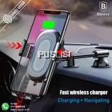Baseus Gravity Car Holder Qi Wireless Charger iPhone X Fast Charging Mount Stand