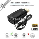 1080P HDMI Female to VGA Female Adapter Video Converter with 3.5mm Audio for PC