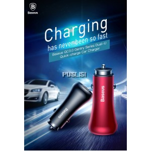 Baseus Quick Charge QC3.0 Car Charger for IPHONE Xiaomi Phone Dual USB Fast Charging