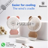 Baseus Portable Rechargeable Mini Hand Fan For Travelling Outdoor Office Creative Cooling Fan with Colorful Led Night Light