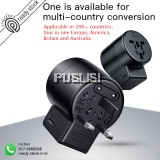 Baseus Travel Adapter Traveller Dual USB Charger Converter for EU US UK AU 2.4A