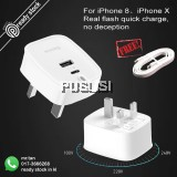 Baseus PD 3.0 Quick Charge 30W charger  travel adapter For iPhone X i8  i8+ plus