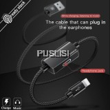 Baseus Music Charging Adapter Lightning Cable Lightning Headphone Earphone for ipX ip8 8plus ip7 ip6 6plus