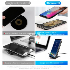 Baseus 10W Three Coils QI Wireless Charger For iPhone X 8 Samsung S9 S8 Plus Fast Wireless Charging Pad