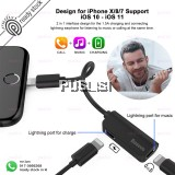Baseus Male to Dual Female 8 Pin Audio Charging Adapter 2A for iPhone 7/7 Plus iOS 10 11