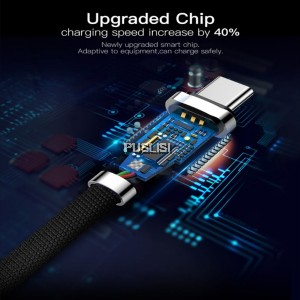 Baseus Type C Cable 1M 2A Zinc Alloy USB Fast Data sync Charging cable For Samsung Note 8 S8 Huawei