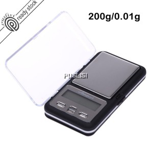 AMPUT 200g x 0.01g Digital Pocket Scale Jewellery Scale Precision Mini Jewelry Weighing Scale
