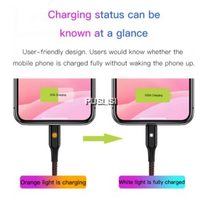 Baseus X-Shaped Light Lightning Cable 1M Fast Charging 2.4A for iPhone X 8 8 plus 6 6 plus
