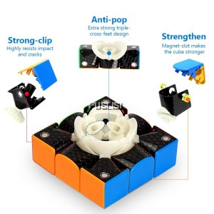 Gan 354 M 3x3 Speed Cube Stickerless Gans 3x3 Magnetic Cube Puzzle Toys