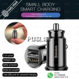 Baseus Quick Charge Car Adapter Mini Smart Car Charger Dual USB for iPhone X iPad Samsung