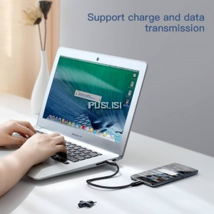 BASEUS U-shape Portable Type C Data Sync Charging Cable with Type-C to Micro USB Adapter 23CM