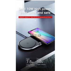 Baseus Dual Qi Wireless Charger Fast Charging 10W 2 Position Charging Mat 2 in 1 Desktop Charger Pad
