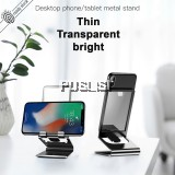 Baseus Transparent Glass Surface Phone Holder Stand  Metal Anti-slip Desktop Aluminum Alloy Desktop Bracket for iPhone Xiaomi Tablet iPhone Samsung