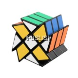 3X3X3 Gears Windmill Flaming Magic Cube Speed Puzzle Cube Professional Educational Tools