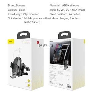 Baseus Smart 2 in 1 Qi Wireless Charger Phone Holder Infrared Car Mount Intelligent Sensor for iphone samsung