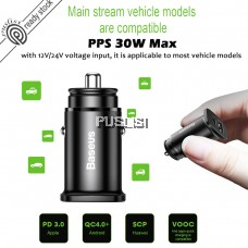 BASEUS PPS Smart Car Charger Type C PD USB Quick Charge  QC4.0 PD3.0 Car Adapter