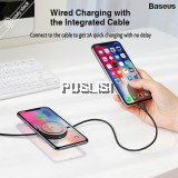 Baseus Qi Wireless Charger 2 in 1 USB Cable With Wireless Charging Function for iPhone X XS Max XR 8 Fast Charging Wireless Charger For iPhone XS XR XS Max X Samsung S9 S8 Note9