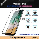 Baseus 0.23mm Screen Protector Tempered Glass Drop-proof Curved Full Screen Ultra Thin Tempered Glass Film Edge Curved Full Cover Drop proof Protective Film HD Anti Fingerprint  Anti-Scratch For iPhone X 10 Apple