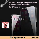 Baseus Screen Protector 3D Full Coverage 0.3mm Anti Spy Tempered Glass Protective Glass Privacy Protection For iPhone X 10
