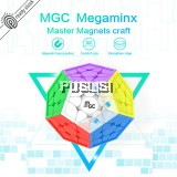 Yongjun YJ MGC Megaminx Magnetic Rubiks Cube Cuber Speed  MGC Megaminx M Magic Cube  stickerless Magnetic megaminx Cube Rubik Cube Brain Teaser Puzzle Toys Education Competition