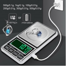 Mini Jewelry Scale USB Charging Pocket Digital Scales 500g/600g 0.01g Precision Electronic Balance LCD Weight Scale