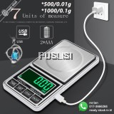500 X 0.01g Mini Rechargeable Digital Pocket Weighing Scale Jewellery Jewerly Kitchen Scale With Back Lit LCD Display For Jewelry Coins Gemstones Medicine  Mini Scale USB Rechargeable Digital Scale Food Kitchen Scales Home Tool Supply Measuring Tools