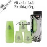 Yong Jun Sports Stacking Cups Night Glow Flying Cups Speed Stacks Cup Glow In Dark Stacking Flying Rapid Cups Luminous Toy Sport Game YJ Quick Stacks Cup Speed Stacks Competitor Rubiks Cube Brain Teasers
