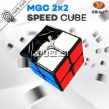 YJ Yongjun MGC Magnetic Speed Cube 2x2x2 Rubik Cube Magic Cube Smooth Professional  Rubiks Cube Puzzle Cube Toy Brain Teasers Education Black