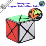 SHS Shengshou Legend 8 Axis Dino Skewb Dino cube Speed cube Smaz Dino Speed Cube Magic Cube Eight Axis Dino Cube Dinosaur Puzzle Twist Black Body