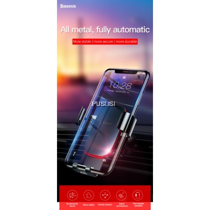 Baseus Metal Age Gravity Car Air Vent Mount Holder Phone Holder Bracket Car Dock