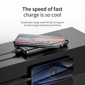 Baseus 10000mAh Qi Wireless Charger Power Bank With LCD QC3.0 Wireless Powerbank External Battery Charger For iPhone Xs Max Xr X
