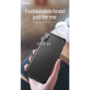 Baseus BV 2nd Generation Protection Case Iphone Cover Ultra Thin Soft Coque Grid Weave Anti Scratch Fashion Apple Phone Cover Phone Case Weaving Case for iPhone XS X 5.8 inch
