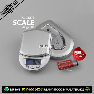 200g x 0.01g Portable Mini Precise Digital Scale Jewelry Gold Pocket Balance Weight Gram LCD Precise Weighing