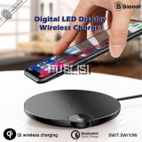 Baseus Wireless Charger Digital LED Display Charging Pad Multiple Charging Protections Fast Steadily for Samsung iPhoneXS