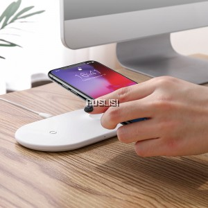 Baseus 2in1 Fast Qi Wireless Charger iWatch iPhone XS XS Max XR 8 PLUS X ios apple
