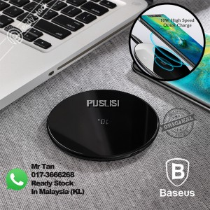 Baseus 10W Wireless Charger Type-C Fast Charging Pad for Huawei Mate 20 Pro Stable Connection Safety 5W 7.5W Simple Stylish Glass Panel