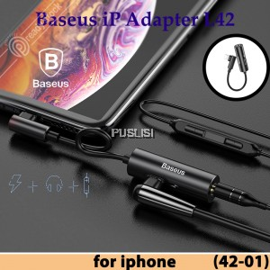 Baseus 2A Wire Lightning to 3.5mm Aux Audio Adapter Converter for iPhone X 8 7 Female Interface Earphone Headphone Small Portable Andriod