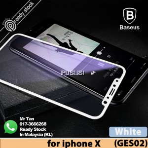 Baseus Original Anti Blue-Ray Full Cover 0.3mm Tempered Glass Screen Protector For iPhone X 10