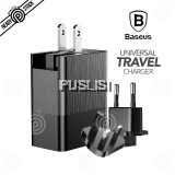 Baseus Original Duke Universal Traveler Fast Adapter Charger 3.4A Dual Multi USB Speed Charging Port