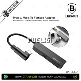 Baseus Original USB Type C to Female 3.5mm Jack Earphone Aux Adapter PD 18W OTG Cable Splitter