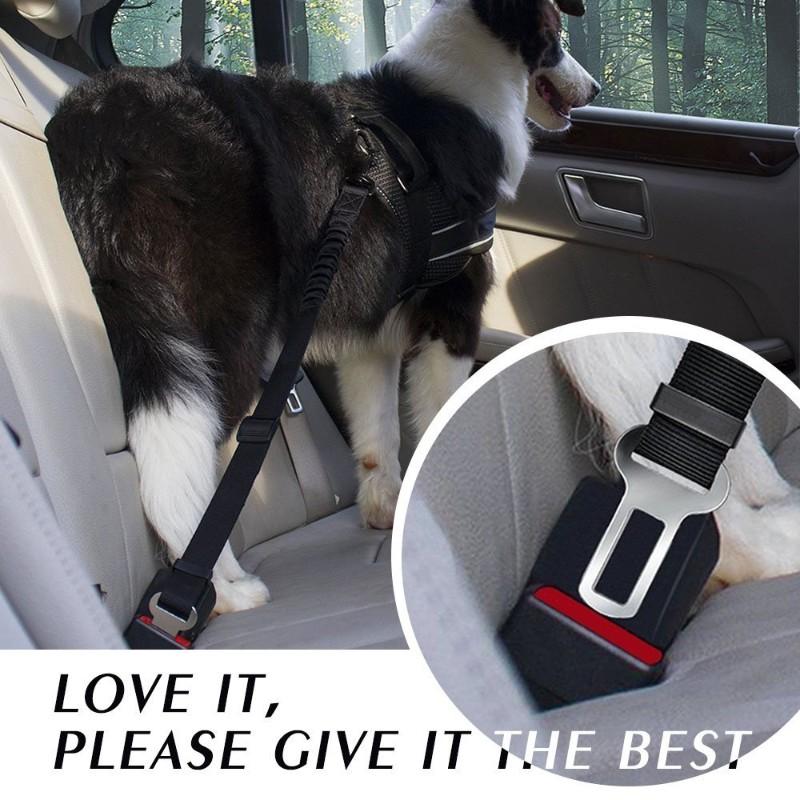 Adjustable Pet Dog Cat Car Seat Belt Safety Harness Leash Vehicle Nylo